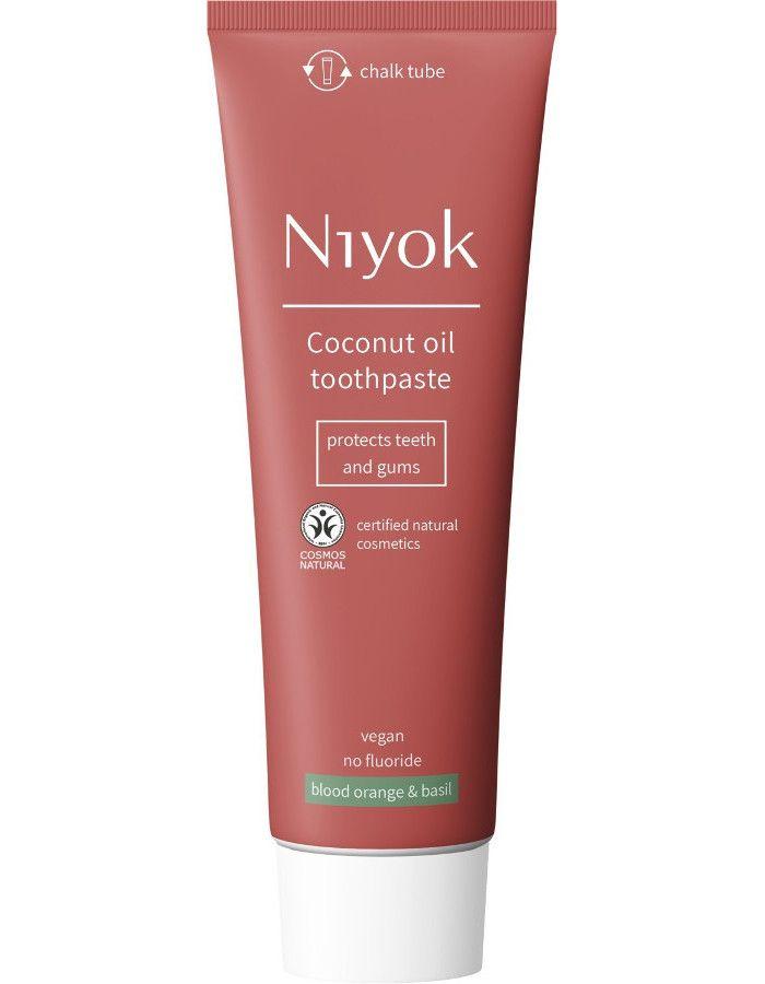 Niyok Coconut Oil Toothpaste Blood Orange & Basil 75ml