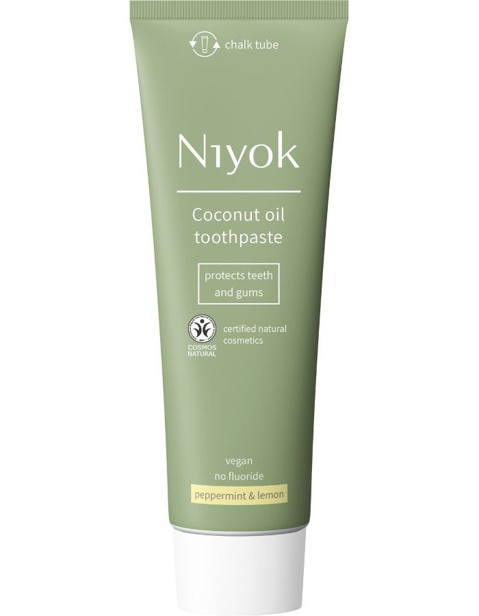Niyok Coconut Oil Toothpaste Peppermint & Lemon 75ml