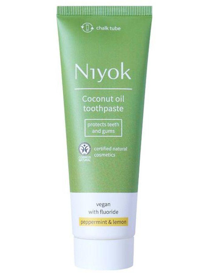 Niyok Coconut Oil Toothpaste Peppermint Lemon Fluoride 75ml