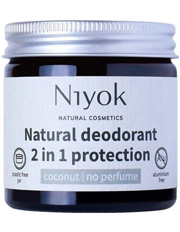Niyok Natural Deodorant 2 in 1 Protection No Perfume 40ml