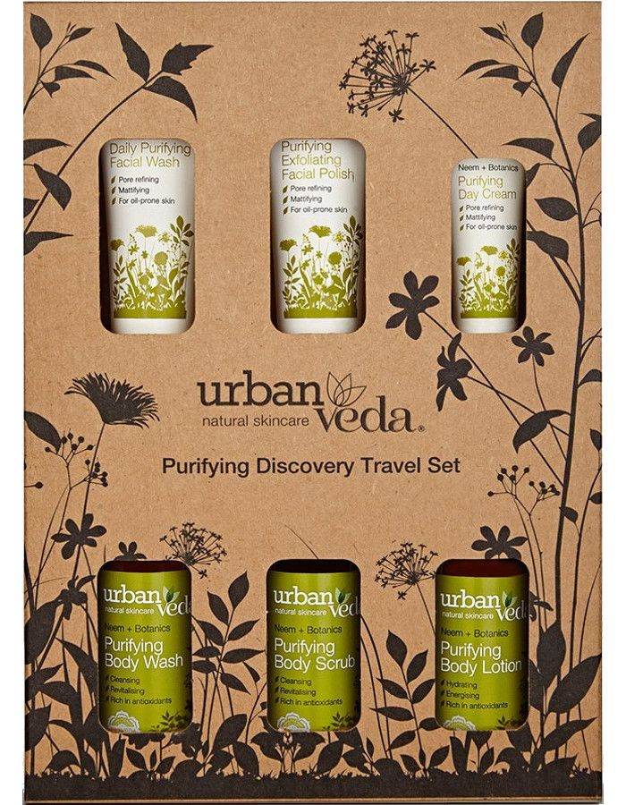 Urban Veda Purifying Discovery Travel Set 6-Delig