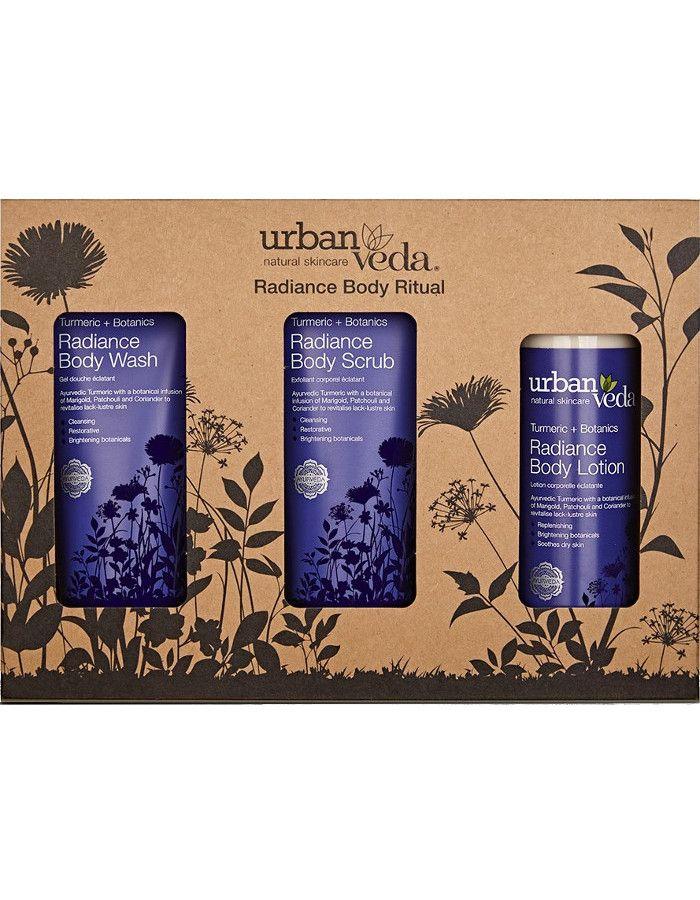 Urban Veda Radiance Body Ritual Gift Set 3-Delig