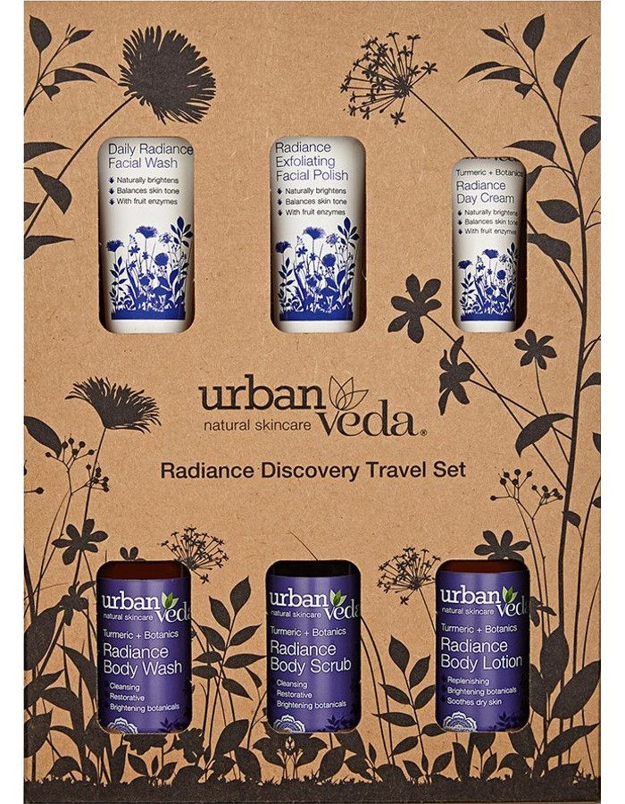 Urban Veda Radiance Discovery Travel Set 6-Delig