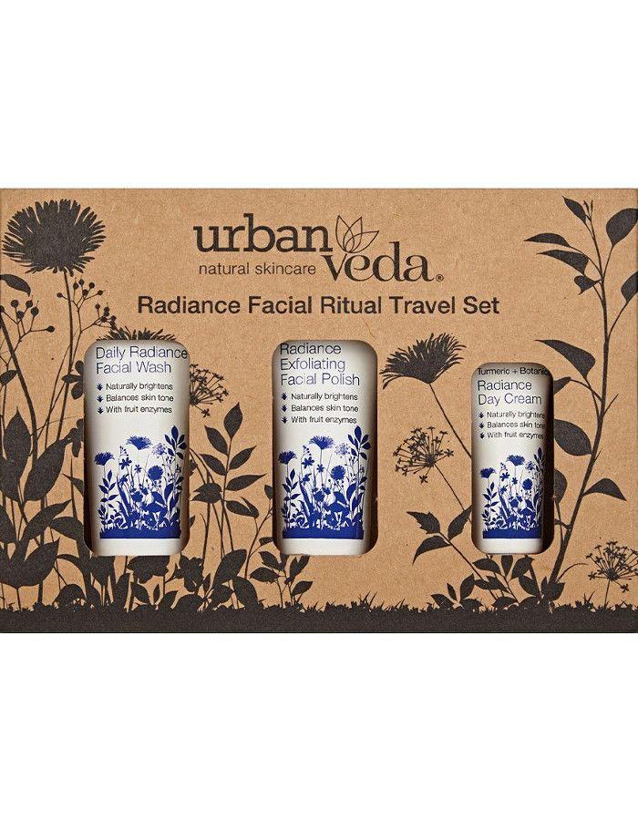 Urban Veda Radiance Facial Ritual Travel Set 3-Delig