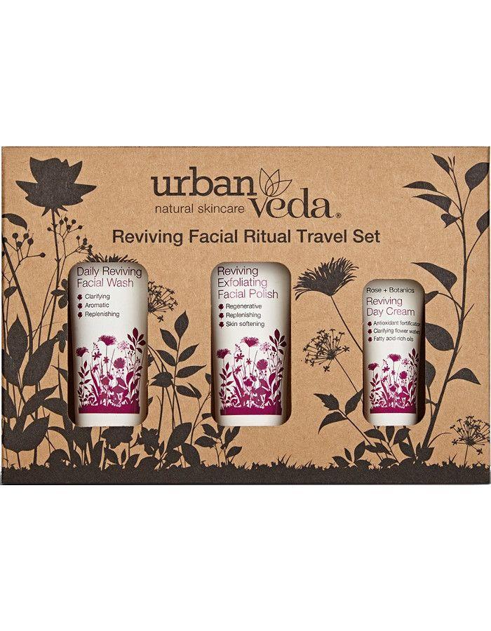 Urban Veda Reviving Facial Ritual Travel Set 3-Delig