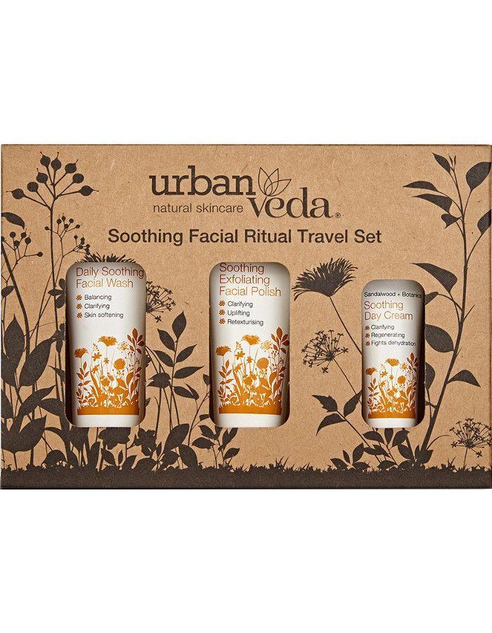 Urban Veda Soothing Facial Ritual Travel Set 3-Delig