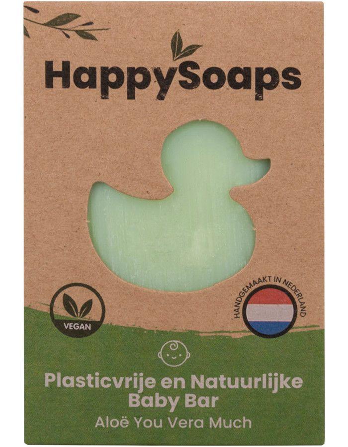 HappySoaps Baby Shampoo & Body Wash Bar Aloë You Vera Much 80gr
