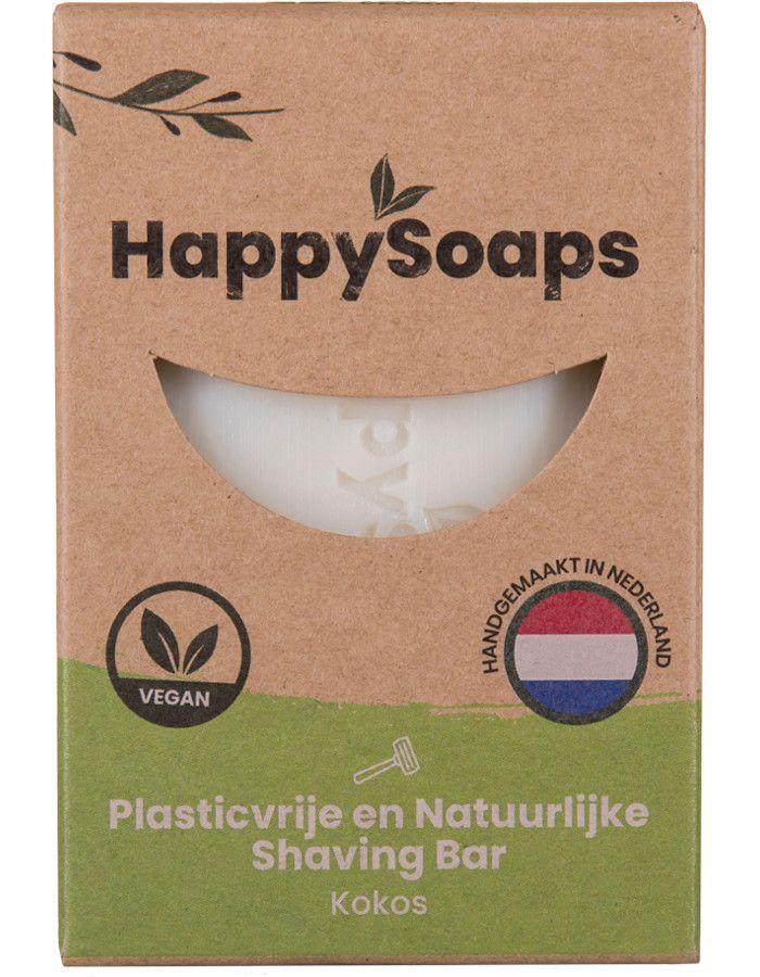 HappySoaps Shaving Bar Kokos 80gr