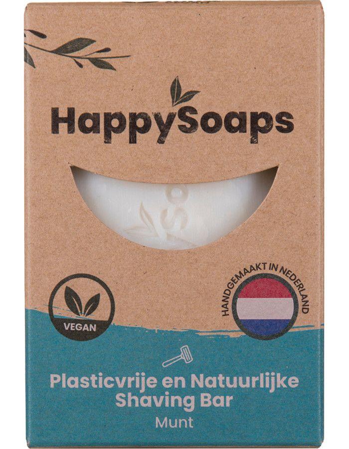 HappySoaps Shaving Bar Munt 80gr