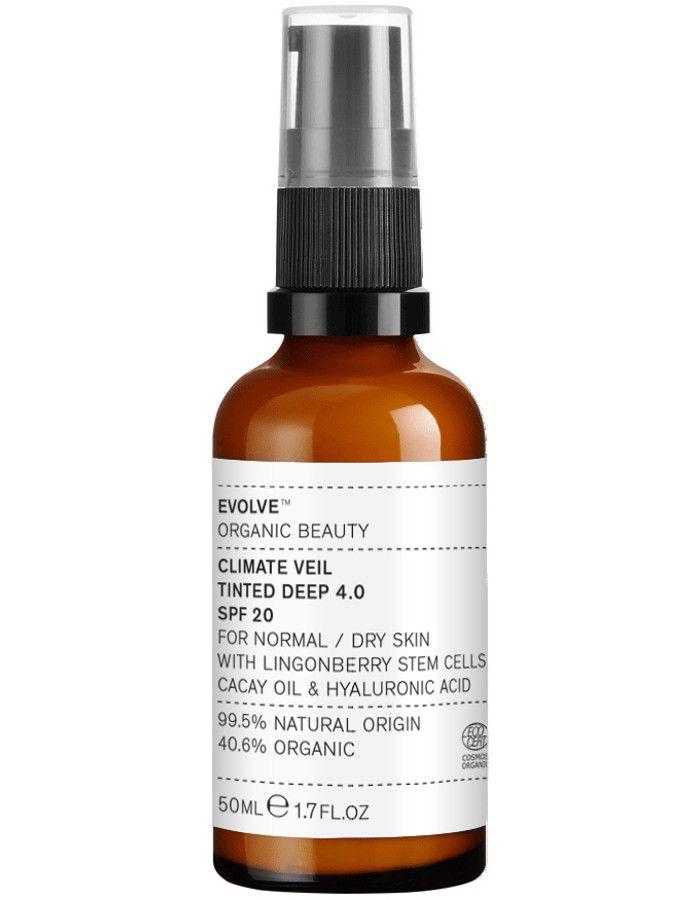 Evolve Organic Beauty Climate Veil Tinted Spf20 4.0 Deep 50ml 5060200046258 snel, veilig en gemakkelijk online kopen bij Beauty4skin.nl