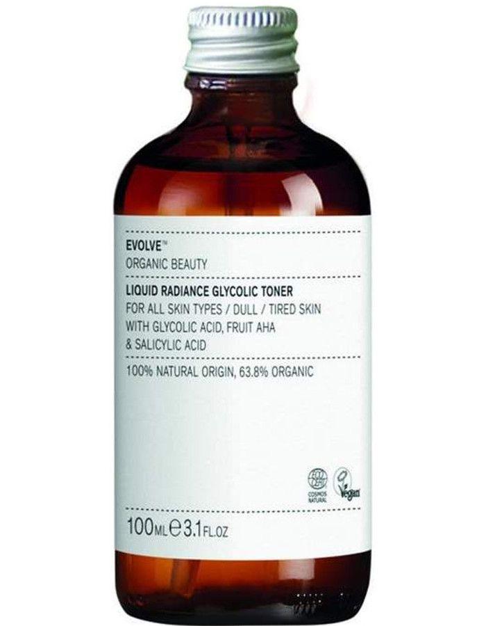Evolve Organic Beauty Liquid Radiance Glycolic Toner 100ml Refill 5060200047866r snel, veilig en gemakkelijk online kopen bij Beauty4skin.nl