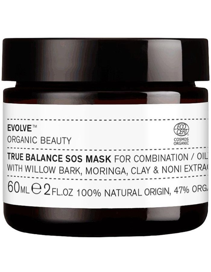 Evolve Organic Beauty True Balance Sos Mask 60ml 5060200046272 snel, veilig en gemakkelijk online kopen bij Beauty4skin.nl