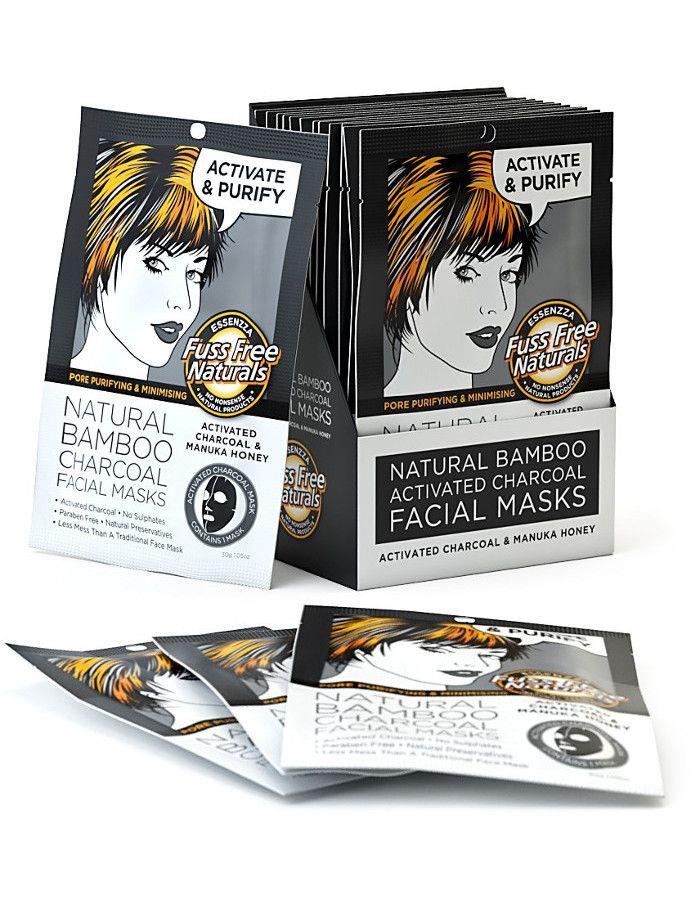 Fuss Free Natural Activated Charcoal Sheet Mask Activate & Purify 1 st 9335419701820 snel, veilig en gemakkelijk online kopen bij Beauty4skin.nl
