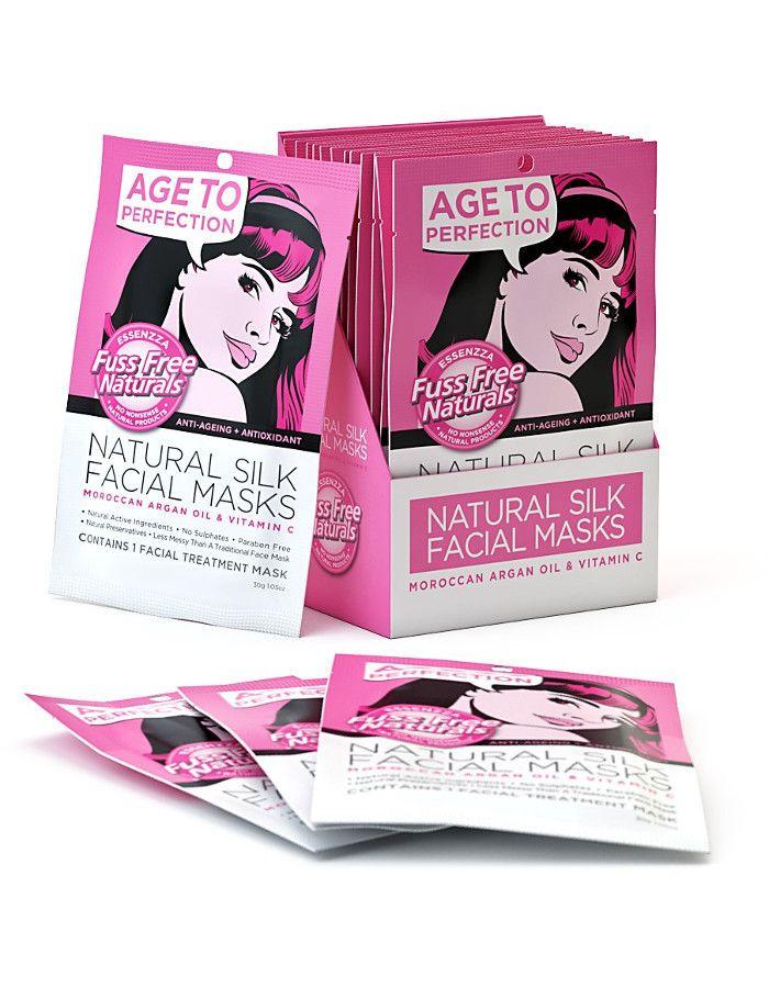 Fuss Free Natural Silk Facial Sheet Mask Age To Perfection 1st 9335419702117 snel, veilig en gemakkelijk online kopen bij Beauty4skin.nl