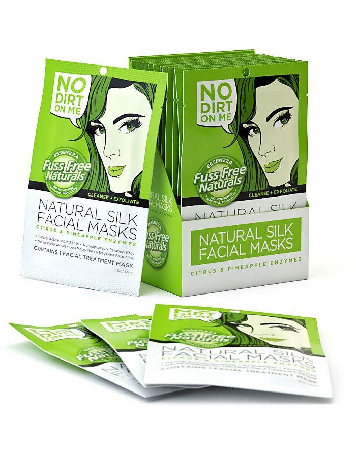 Fuss Free Natural Silk Facial Sheet Mask No Dirt On Me 1st 9335419702018 snel, veilig en gemakkelijk online kopen bij Beauty4skin.nl