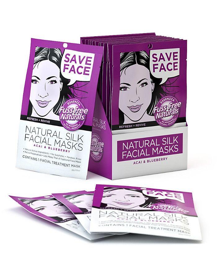 Fuss Free Natural Silk Facial Sheet Mask Save Face 1st