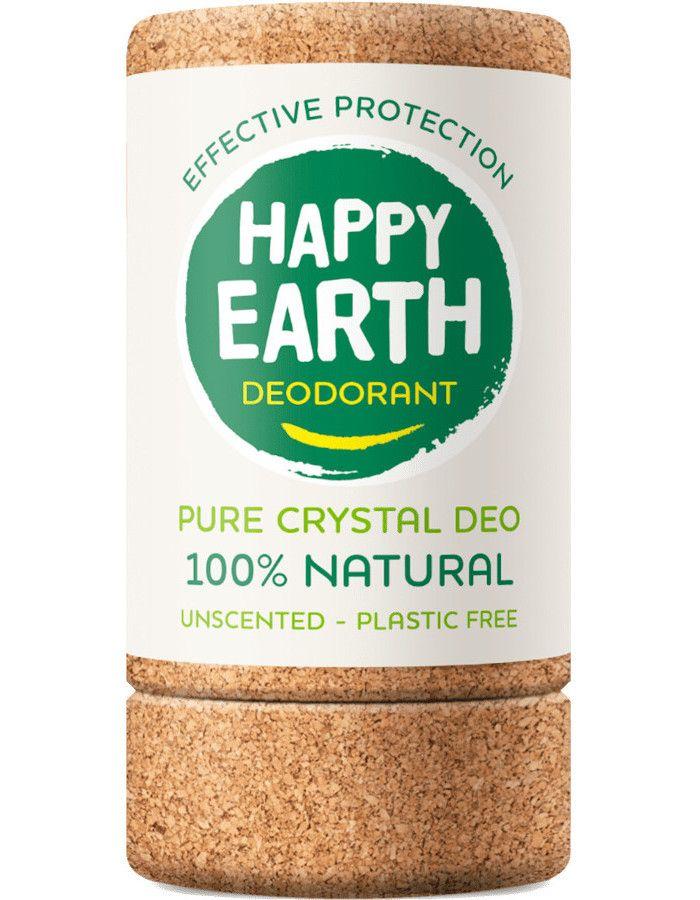 Happy Earth Pure Crystal Deo Unscented 90gr 8719324667111  snel, veilig en gemakkelijk online kopen bij Beauty4skin.nl