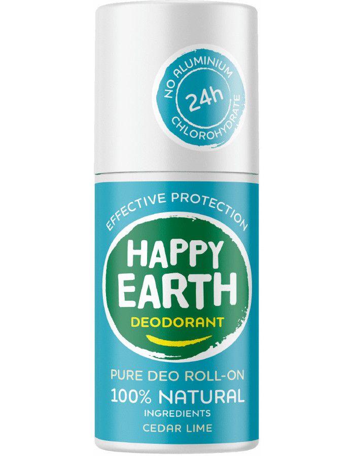 Happy Earth Pure Deo Roll-On Cedar Lime 75ml 8719324667180