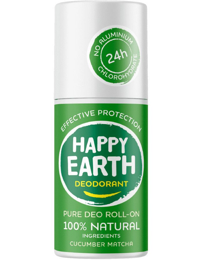 Happy Earth Pure Deo Roll-On Cucumber Matcha 75 ml 8719324667166
