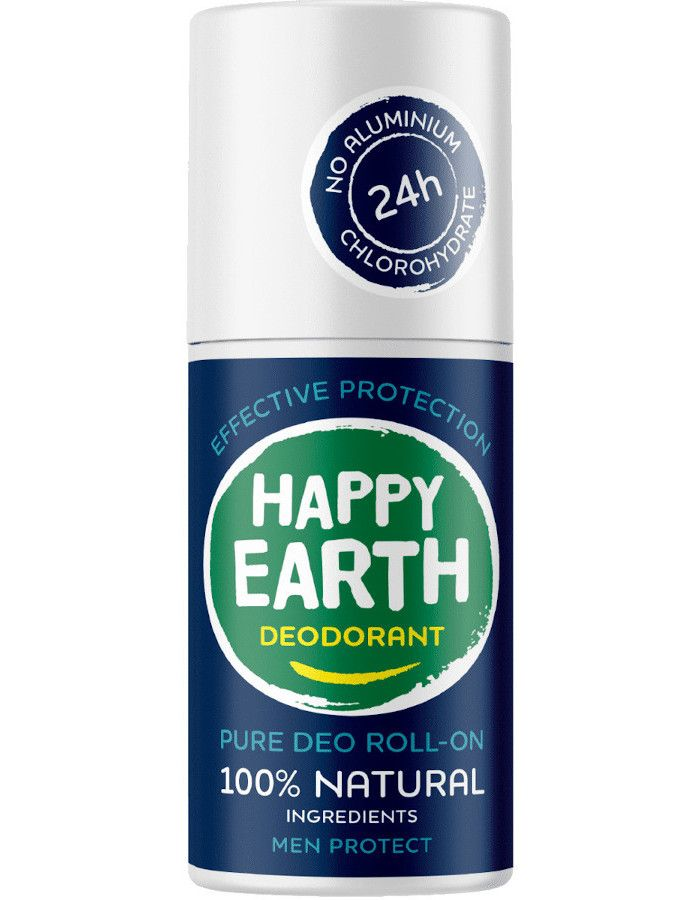 Happy Earth Pure Deo Roll-On Men Protect 75ml 8719324667210 (2)