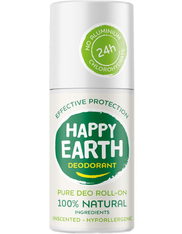Happy Earth Pure Deo Roll-On Unscented 75ml 8719324667135