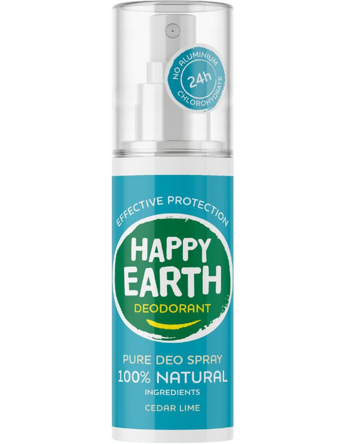 Happy Earth Pure Deo Spray Cedar Lime 100ml 8719324667197