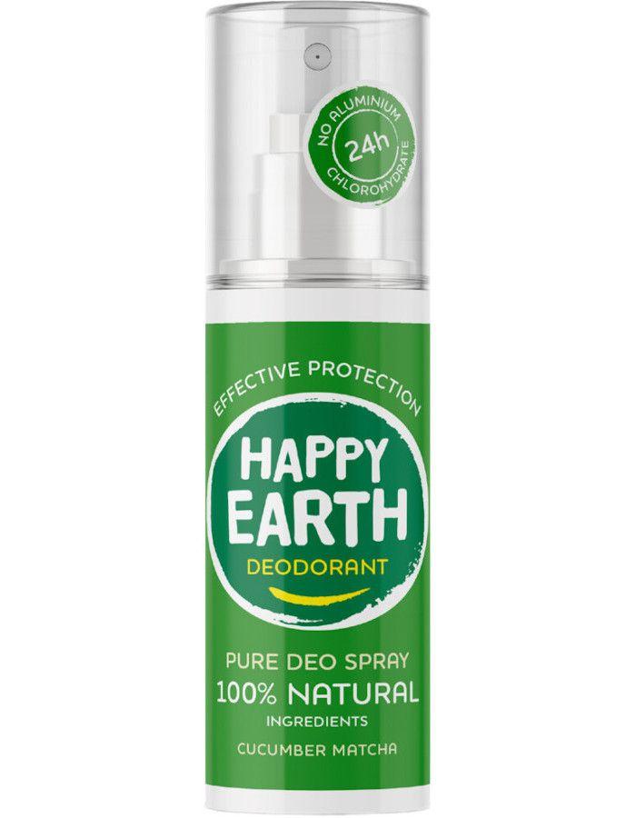 Happy Earth Pure Deo Spray Cucumber Matcha 100 ml 8719324667173