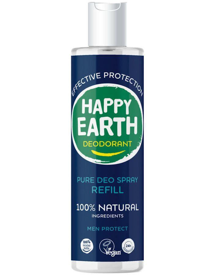 Happy Earth Pure Deo Spray Men Protect Refill 300ml 8719324667364