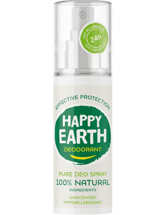 Happy Earth Pure Deo Spray Unscented 100ml 8719324667128