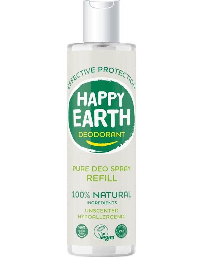 Happy Earth Pure Deo Spray Unscented Refill 300ml 8719324667326