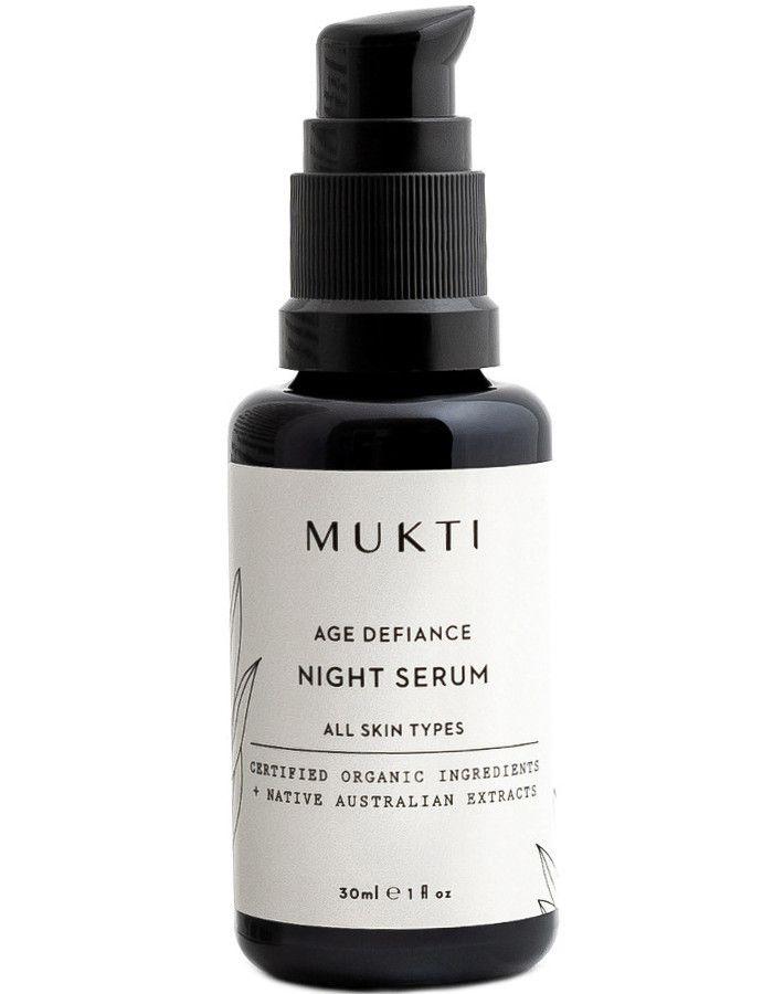 Mukti Organics Age Defiance Night Serum 30ml 9328424001092 snel, veilig en gemakkelijk online kopen bij Beauty4skin.nl