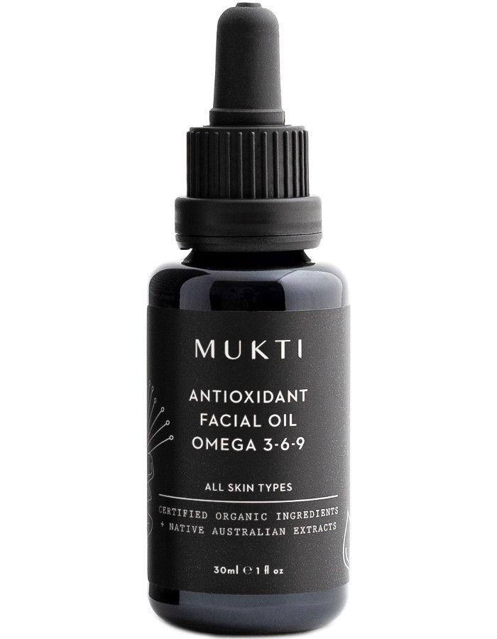 Mukti Organics Antioxidant Facial Oil Omega 3-6-9 30ml 9328424000972 snel, veilig en gemakkelijk online kopen bij Beauty4skin.nl