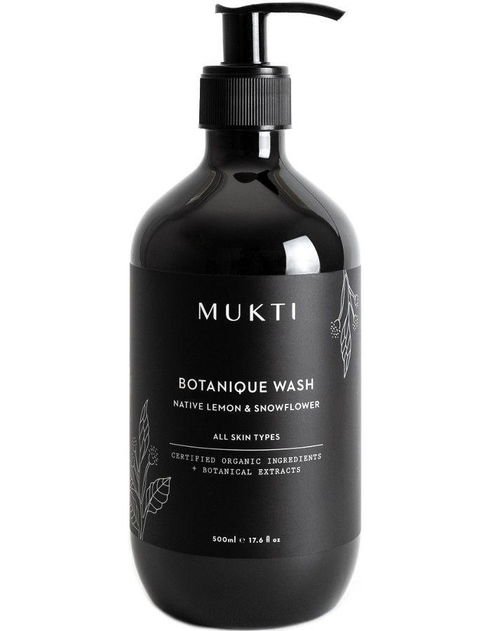 Mukti Organics Botanique Hand & Body Wash 500ml 9328424001252 snel, veilig en gemakkelijk online kopen bij Beauty4skin.nl