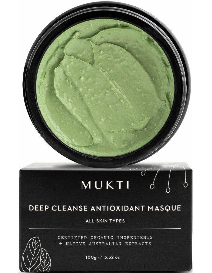 Mukti Organics Deep Cleanse Antioxidant Masque 100gr 9328424001238 snel, veilig en gemakkelijk online kopen bij Beauty4skin.nl