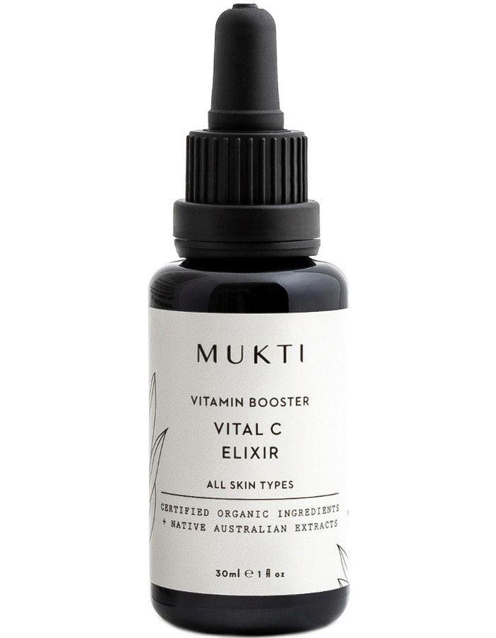 Mukti Organics Vitamin Booster Vital C Elixer 30ml 9328424001320 snel, veilig en gemakkelijk online kopen bij Beauty4skin.nl